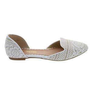 NEW in Box Restricted Glory Flats in White